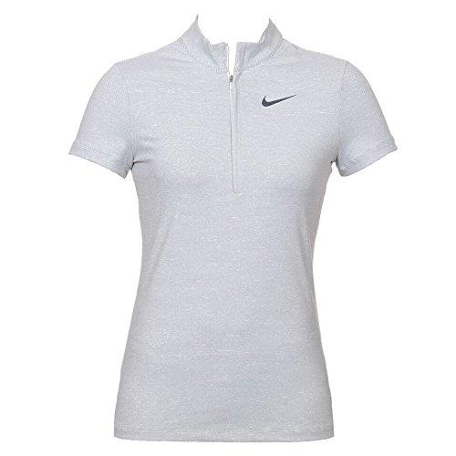 Nike Ace Stripe Polo - Camiseta para Mujer, Color Blanco/Negro ...