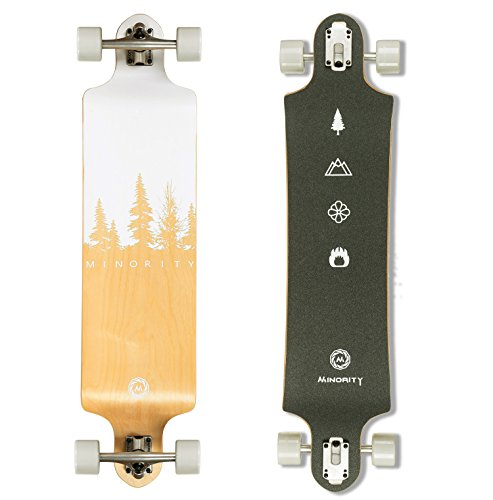 MINORITY Downhill Maple Longboard 40-inch Drop Deck (Nature)