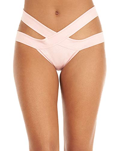 iHeartRaves Sparkle Aries Scrunch Back Rave Booty Shorts (Small/Medium, Pink) -