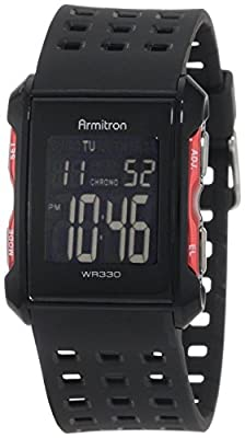 Armitron Sport Men's 40/8177 Digital Chronograph Perforated Resin Strap Watch