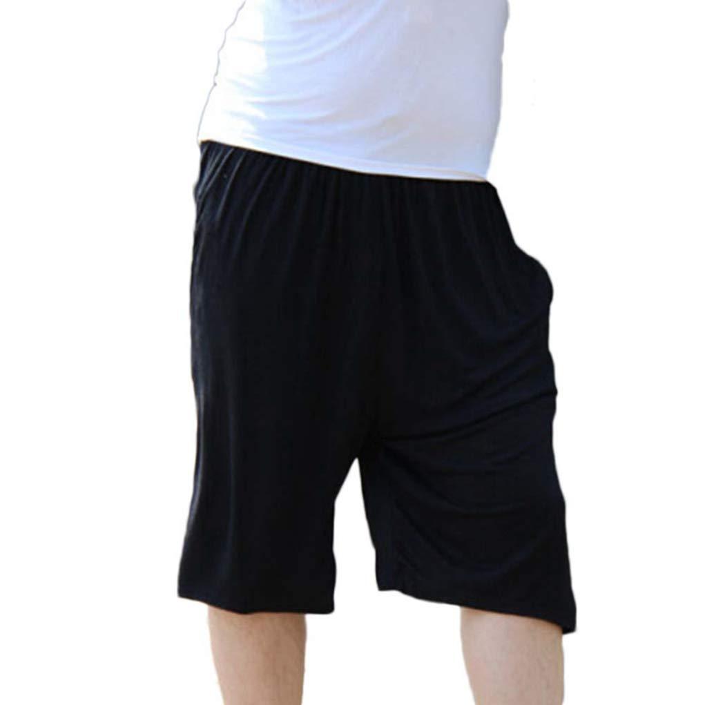 ZIXINGA Mens Cosy /& Comfy Lounge Shorts Pyjama Bottoms Plus Size Wide Leg Trouser Pants