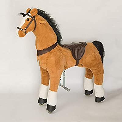 Amazon Com Ufree Large Mechanical Rocking Horse Toy Ride On Bounce