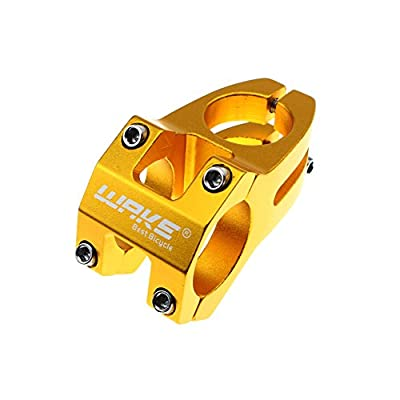 31.8 Stem 45mm Bike Stem Wake Mountain Bike Stem Short Handlebar Stem for Most Bicycle, Road Bike, MTB, BMX, Fixie Gear, Cycling (Aluminum Alloy, Black Blue Gold Red)