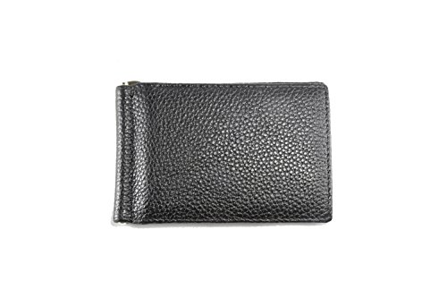 Clip Money Front Pocket Black with Leather Slim Bifold Mens Wallet Artmi q8z41