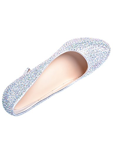 Sarahbridal Women's Pointed Toe Rhinestone Wedding Bridal Shoes Platform High Heels Prom Court Shoes SSS002 Silver(heel height:12cm) DCnqo3iWi8