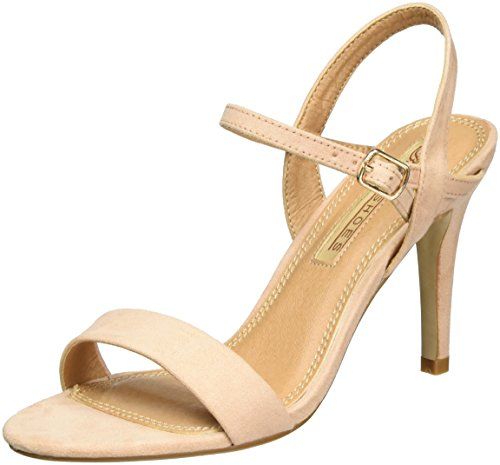 Buffalo Shoes 314258 Imi Suede Bhwmd A16, Sandalias con Cuña para Mujer Beige (NUDE 01)