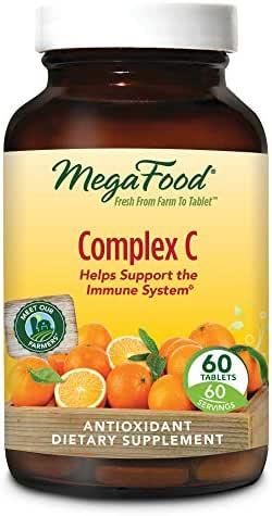 MegaFood - Complex C, Supports Immunity and Well-Being with Rosehips and Orange, Vegan, Gluten-Free, Non-GMO, 60 Tablets (FFP)