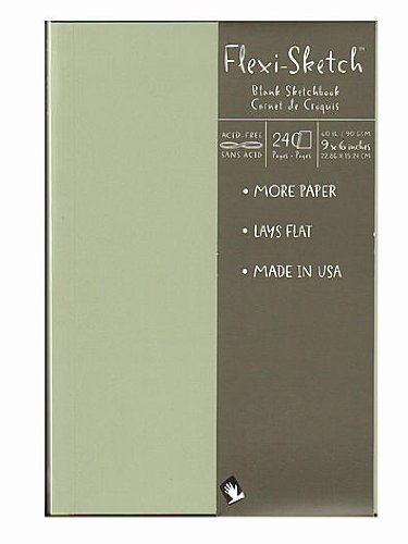 Global Art Flexi-Sketch Sketchbooks mist 9 in. x 6 in. portrait [PACK OF 3 ]
