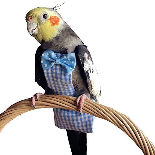 QBLEEV Cockatiel Bird Diaper Flight Suite Liners Blue ()