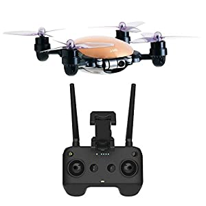 JME App Controlled Drone with 4K Camera 2 Axis Gimbal (Gold) and Remote Controller