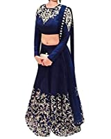 ultrasav Women's Georgette Lehenga Choli (us16_Blue _Free Size)