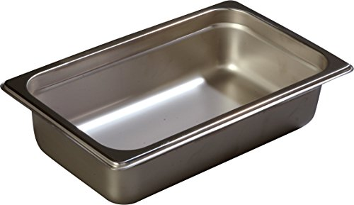 Carlisle 608142 DuraPan Steam Table Pans, Set of 6 (1/4-Size, 2 1/2-Inch, Stainless Steel, ()