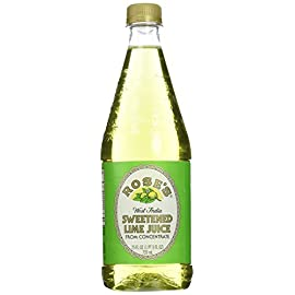 Rose's Lime Juice, 25-Ounce Bottles (Pack of 3) 9 Made with real lime juices Great way to add a splash of color to any drink Perfect for non-alcoholic drinks too!