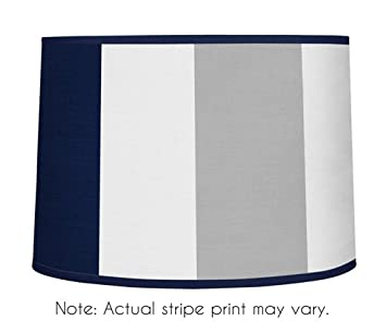 Amazon sweet jojo designs navy blue and gray stripe lamp shade sweet jojo designs navy blue and gray stripe lamp shade aloadofball