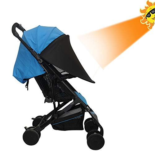 Stroller Sun Shade Universal UV Protection Cover, Awning Canopy Extender, Rayshade for Pram Baby Carriages, Pushchair, Weatherproof Umbrella - Protection Rayshade Uv