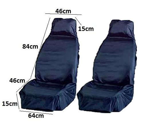 Refresh Car Seat Upholstery Blue Durable Cover Front Seat Best Grade Pair AutoPower