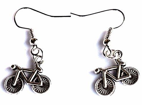 Made in USA Steampunk bicycle / bike Earrings