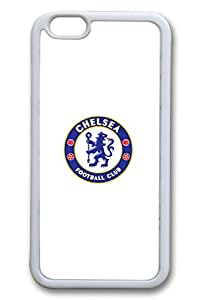 iPhone 6 Case, iPhone 6 Cases - Slim Fit Rubber Case for iPhone 6 Chelsea Fc Logo Perfect Fit White Soft Case Cover for iPhone 6 4.7 Inches