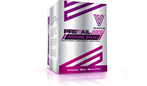 Valentus Prevail Natural Immune Boost: 100% Pure Ingredients Fruit Flavored Powder Drink Mix   24 Sachets (9g Each)