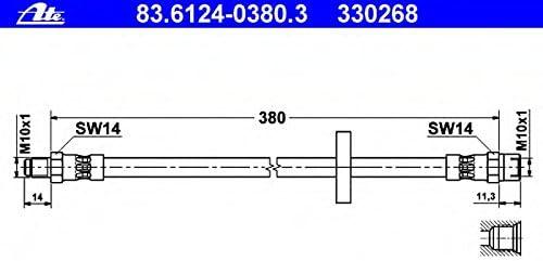 ATE 83612403803 Bremsschlauch