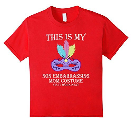[Kids This Is My Non embarrassing Halloween Mom Costume T shirt 12 Red] (Non Embarrassing Halloween Costumes)