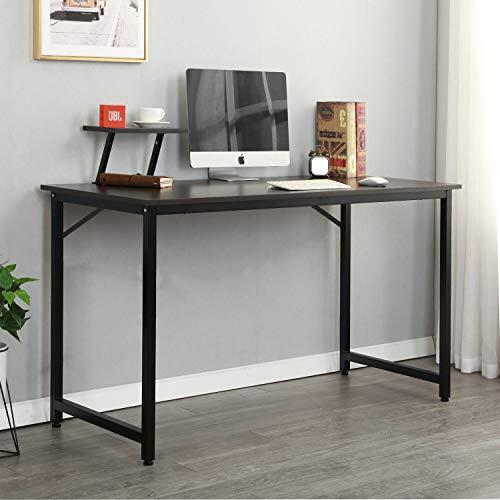 Soges Computer Desk 47 PC Desk Office Desk Workstation for Home Office Use Writing Table Black JK120-BK-CA