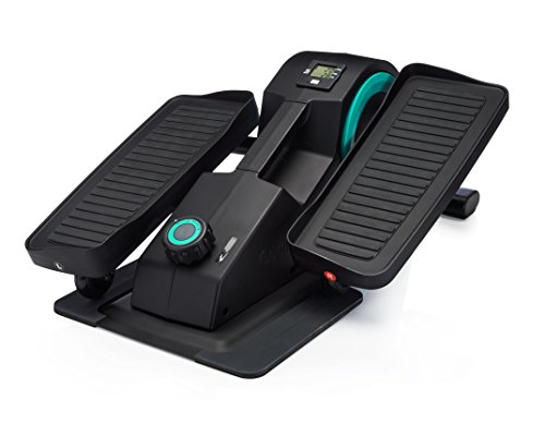 Cubii Jr: Desk Elliptical w/Built in Display Monitor, Easy Assembly, Quiet & Compact, Adjustable Resistance (Aqua)