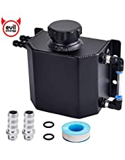 EVIL ENERGY 6AN 10AN 3/8 5/8 Coolant Water Overflow Recovery Expansion Tank Catch Can 1L Reservoir Bottle with Drain Plug Universal Aluminium