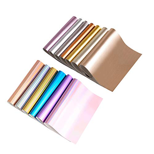 Shiny Colored Leather Fabric Sheets Cotton Back for Earrings, Bows, Jewelry, Hair Bow DIY Craft Projects, Plain 10-inch by 13-inch,13 Colors