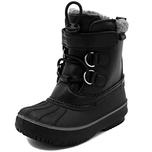 London Fog Boys Oxford Toddler Cold Weather Snow Boot Black 9