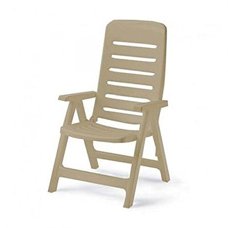 Ideapiu Sillón de Resina Pardo, sillones Plegables de ...