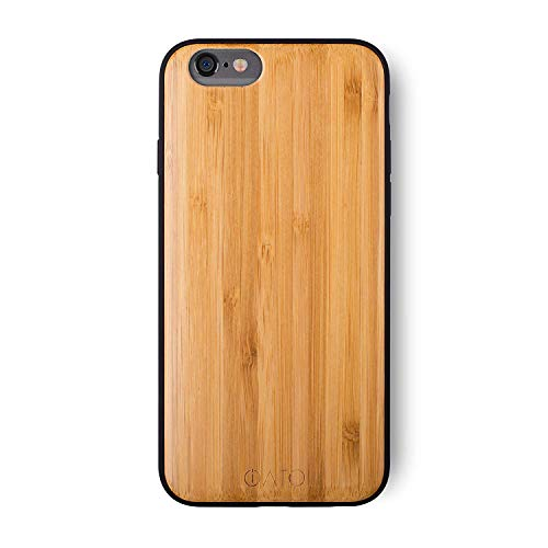 iATO iPhone 6 Plus / 6s Plus Wooden Case - Real Bamboo Wood Grain Premium Protective Shockproof Slim Back Cover - Unique, Stylish & Classy Thin Snap on Bumper Accessory Designed for iPhone 6+ 6s+