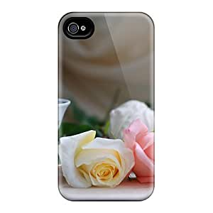 Iphone 6 Hard Back With Bumper Cases Covers Rose Cup
