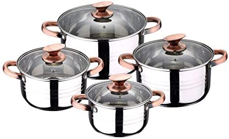 San Ignacio Premium Nona - Bateria de cocina de 4 piezas, acero ...