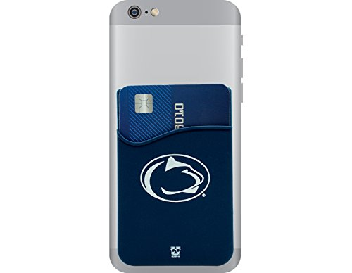 Penn State Nittany Lions Adhesive Silicone Cell Phone Wallet/Card Holder for iPhone, Android, Samsung Galaxy, & most Smartphones
