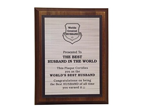 aahs!! Engraving Worlds Greatest Plaques (Best Husband in The World, Silver) (Best Husband In The World)