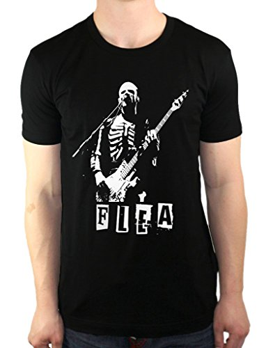 - Flea Red Hot Chili Peppers RHCP Skeleton Costume Bass Mens T-Shirt Medium Black