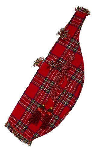 Bagpipe Cover & Cord, Tartan, Full Size by Mid-East