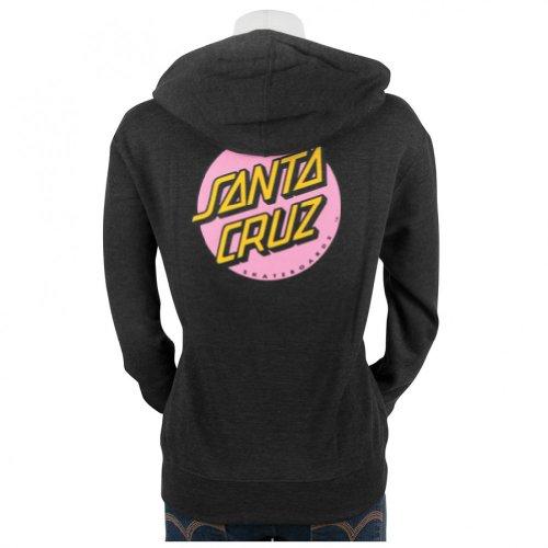 Santa Cruz Other Dot Pullover Hooded Sweatshirt Juniors (Large, Charcoal Heather) (Santa Hoodie)