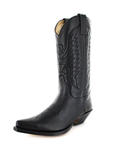 Cowboy Unisex Stivali Negro Nero Stivali Sendra Tirare Da Adulto 2073 OBnwYT