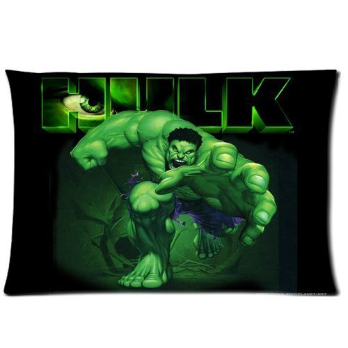 Superhero Series The Incredible Hulk Custom Pillow Cases 20x30 (Two sides)