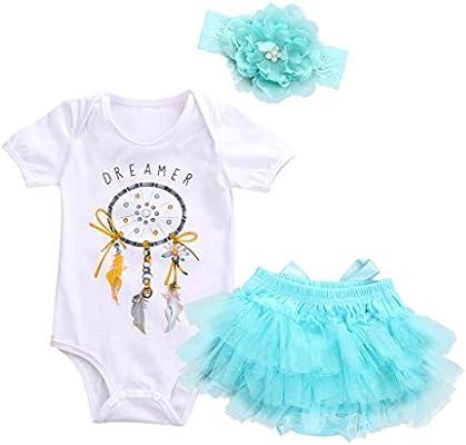 Challen recién nacido bebé niña Pelele de Atrapasueños + tutú ...