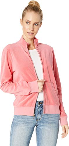 Juicy Couture Women's Fairfax Velour Jacket Frozen Strawberry Petite/X-Small