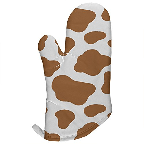 Halloween Costume Brown Spot Cow All Over Oven Mitt Multi Standard One Size -