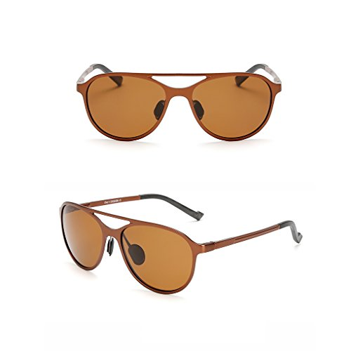 magnesio al y anti de de Mengonee Lentes sol 400 de gafas polarizadas libre UV aluminio conducción aire sol de Gafas Hombres protección Té UV TttAqI