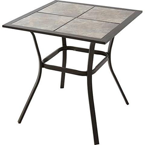 Heritage Park Patio Furniture Bistro Table, Matte Espresso (Two Dogs Designs Fire Pit Cover)