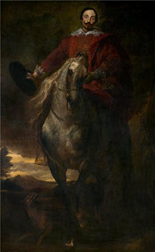 [Perfect Effect Canvas ,the Vivid Art Decorative Canvas Prints Of Oil Painting 'Equestrian Portrait Of The Painter Cornelis De Wael By Anthony Van Dyck', 30x49 Inch / 76x124 Cm Is Best For Wall Art Artwork And Home Decoration And Gifts] (Anthony Logistics Shampoo)