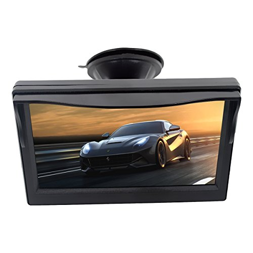 Car Screen Rearview Display 5 Inch Sucker Bracket TFT LCD Color Rear View Monitor SINOVCLE
