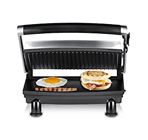 Sunbeam Sandwich Compact Cafe Grill, Stainless Steel