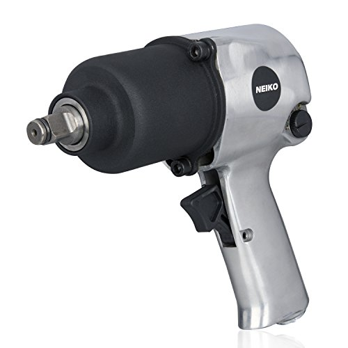 Neiko 31390A Short Shank Twin Hammer Impact Wrench, 1/2 Drive | Reversible & Adjustable Torque | 530 Ft-Lb, 7500 RPM (Sealey Air Hose)
